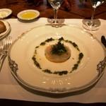 ラ・ベル・エポック - 平目のカルパッチョ、サラダと香草風味ヴェネグレット