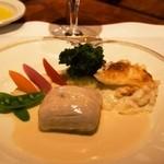 ラ・ベル・エポック - 帆立貝のムースを詰めた舌平目の白ワイン蒸し