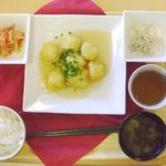 Dining 銀杏 - 白身魚のフライ 定食(500円)