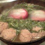 やさい酒場 - 水菜とかぶと鶏の鍋