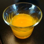 石葉 - 朝食① みかんジュース
