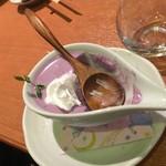 せんなり亭近江肉 橙 - 御膳のデザート・ぶどうのムース