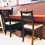 カフェ&シーフードバルべセル - カウンター席