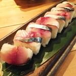 いか天国 - 〆サバの棒寿司
