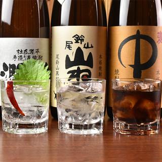 【大特価!】利き酒師が厳選した焼酎約80種類が300円均一♪