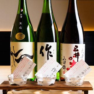 初心者から日本酒好きまで楽しめる◎全国の厳選銘酒が40種以上