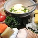 葡萄の丘 - 茶碗蒸しと炊き野菜が美味しかった!