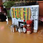 サンテリア - テーブルの上の様子
