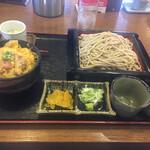 駒そば亭 - ♢カツ丼+もりそば