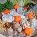遊帆亭 - 真鱈と白子鍋