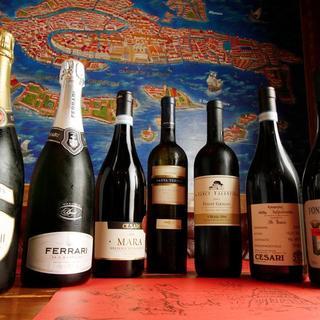 1000円台から楽しめるワインが120種類以上!