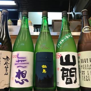 笑顔 - ドリンク写真:あるときの日本のお酒達。