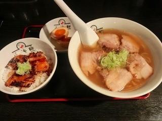 会津喜多方ラーメン 小法師 渋谷並木橋店 - 炙り焼豚ご飯セット