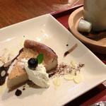 三宅商店 - <3月>珈琲のチーズケーキ(ケーキセット)
