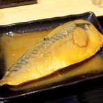 蟹喰楽舞 - サバは身がしっかり締まった印象。味は濃すぎず薄すぎず