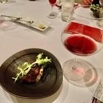 120068910 - 赤ワイン&テール焼。