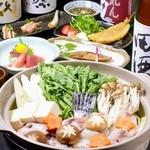 与一 - 人気の「海鮮と若鶏の鍋コース」が登場♪2時間飲み放題付き全7品 5000円