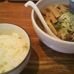 12008411 - からあげ定食の醤油(ネギメンマ増)とご飯大