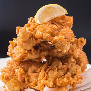 当店自慢◎「一心特製大きな若鶏唐揚げ」は必食です♪