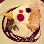 中目黒カフェサンズ - かぼちゃのチーズケーキ