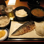 海鮮問屋仲見世 - 焼き魚定食 600円(税込) (2019.11)