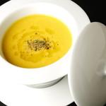 アリタハウス - 温前菜には季節に応じた様々な食材をアレンジ
