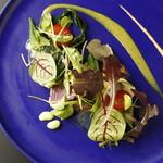 アリタハウス - コース前菜は新鮮な地魚と地野菜を使用。