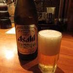 海鮮問屋仲見世 - 瓶ビール(中瓶) 580円(税込) (2019.11)
