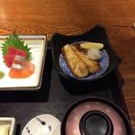 旬彩庵 - 刺身と鯖の文化干しの定食