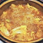広東料理処お好み焼き 千代 - スペアリブと春雨の土鍋煮込み