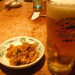 日高屋 - 生ビール:350円