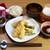 さん天 - その他写真:カキと海老の天ぷら定食のおうちごはん♡