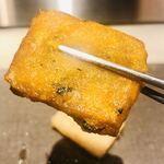 toukyouwashokurikuu - 南瓜餅は柔らかくてトロリとしていました。