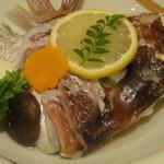 佳羅守 すし半 - 鯛のかぶと煮