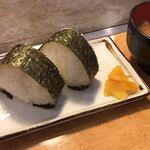 お好み焼 寿寿 - おにぎりセット(¥110)