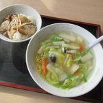 満亭 - 料理写真:利用日のスペシャルランチ[あんかけラーメン(塩味)、チャーシュー丼](2019/11/14撮影)