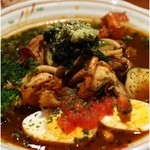 吉柳 - 本日のカレー えびとチキンのスープカレー