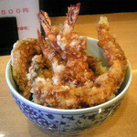 丸福 - ランチ特天丼 (700円)
