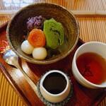 みつばち - 抹茶クリームあんみつ(¥750)