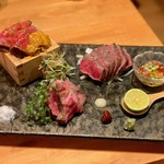 肉と京料理 かぐら - かぐら 三種盛り