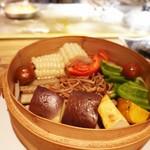 teppankeishatoritotamago - ブランド野菜のせいろ蒸し