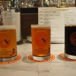 自家製ソーセージ&できたてビール酒場 T.S.Brewery - 呑み比べセット