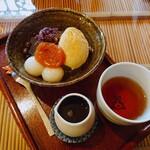 みつばち - 料理写真:きなこがけバニラクリームあんみつ(¥750)