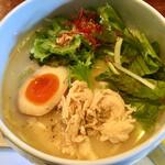 鶏白湯 蔭山 - 鶏白湯麺塩そば(880円)
