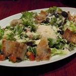 月陽 KARASUMA - パンチェッタと新鮮野菜のサラダ半熟玉子のせ