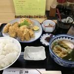豊福 - カキフライ定食950円(税込)ご飯大盛り無料です(2019.11.21)