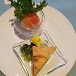 The Lobby Lounge - ◆真鯛のマリネ(グレープフルーツソース)、ベーコンのキッシュ◆♪