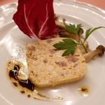 ピッツェリア・サバティーニ - 鶏胸肉のテリーヌきのこのピクルス添え