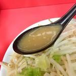 ラーメン二郎 - 小ブタニンニク スープアップ