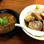 大衆酒場 玉井 - 牛すじカレー煮、鶏がらスープの金運おでん